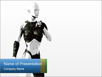 Robot in Anime Style PowerPoint Template