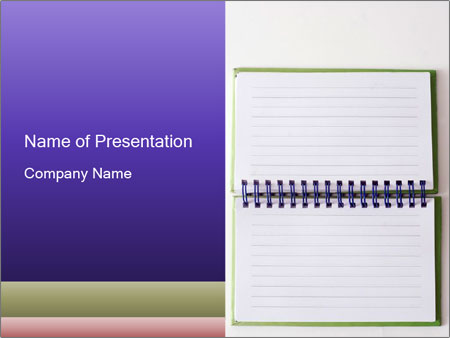 Opened Spiral Note Pad PowerPoint Template