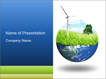 Windmills as Main Eco Energy Concept PowerPoint Template