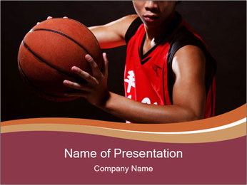 Trained Basketball Player Sjablonen PowerPoint presentatie