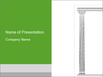 White Antique Column in Greece PowerPoint Template