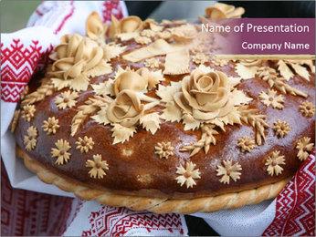 Wedding Bread in Ukraine PowerPoint Template