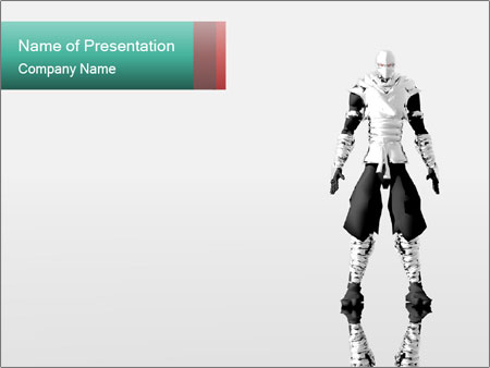 Make Android Robot Powerpoint Template Backgrounds Id 0000015020