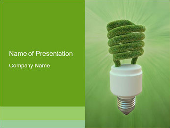 Green Electricity Concept PowerPoint Template