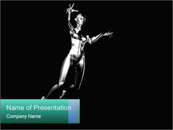 Platinum Statue PowerPoint Template