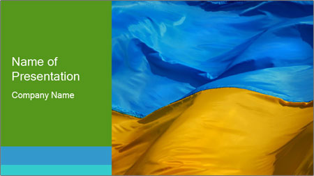 Blue And Yellow Flag Of Ukraine Powerpoint Template Backgrounds