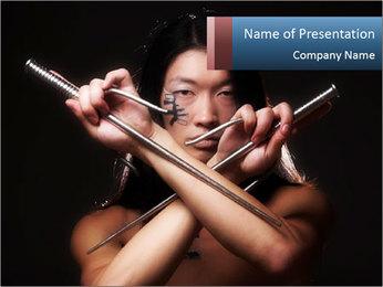 Asian Samurai PowerPoint Template