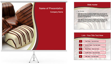 Chocolate Sweets PowerPoint Template Backgrounds ID 0000015109 – Powerpoint Flyer Template