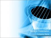 Blue Guitar Background PowerPoint Templates