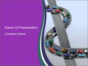 3D Road with Traffic Jam PowerPoint Templates