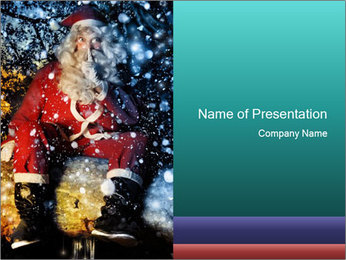 Megical Santa Claus PowerPoint Template