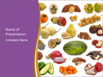 Tropical Fruits Collage PowerPoint Template