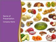 Tropical Fruits Collage PowerPoint Templates