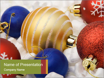 Colorful Balls for New Year Tree PowerPoint Template