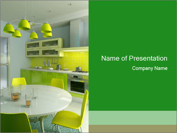 Cosy Yellow Kitchen PowerPoint Template