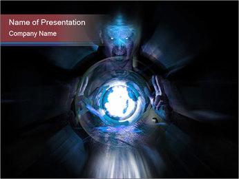Magic Blue Ball PowerPoint Template