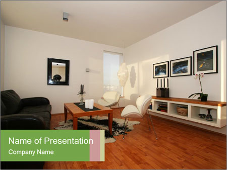 Interior Design Portfolio PowerPoint Template Backgrounds ID