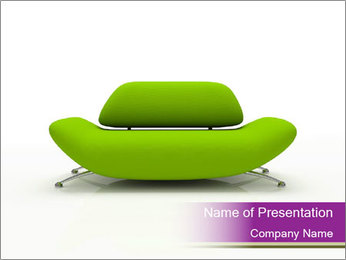 Green Modern Sofa PowerPoint Template