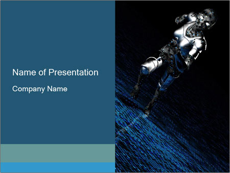Android Female Robot Powerpoint Template Backgrounds Google