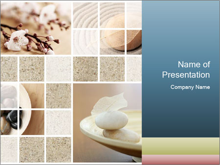 mosaic in zen style powerpoint template & backgrounds id, Powerpoint templates