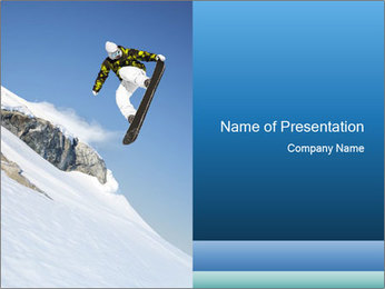 Professional Snowboarder PowerPoint Template