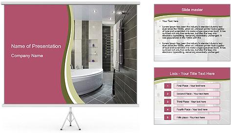 bathroom design powerpoint template - Bathroom Design Template