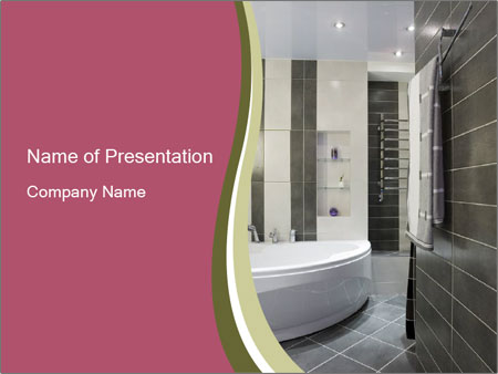 Bathroom Design Template bathroom design powerpoint template & backgrounds id 0000015328