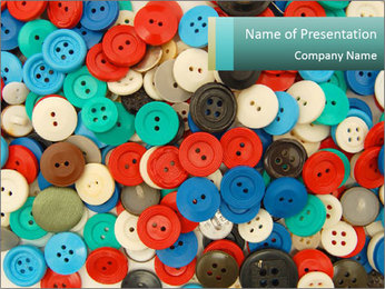 Pile of Buttons PowerPoint Template