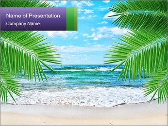 Magic Lagoon Beach PowerPoint Template