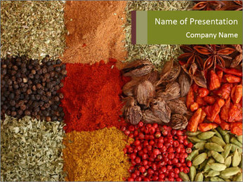 Asian Spices Market PowerPoint Template