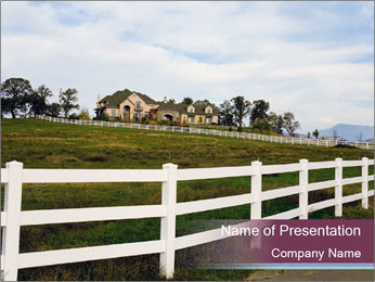 Countryside Fence PowerPoint Template