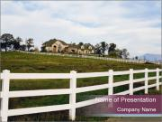 Countryside Fence PowerPoint Templates