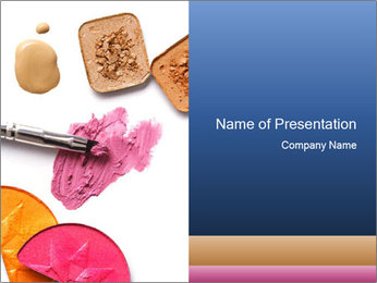 Crashed Eyeshadow and Pink Lipstick PowerPoint Template
