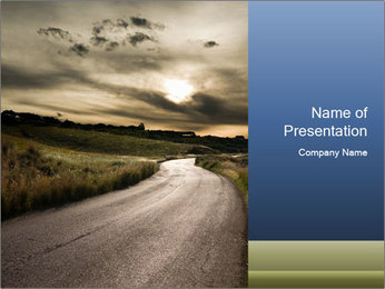 Empty Road in Rural Area PowerPoint Template