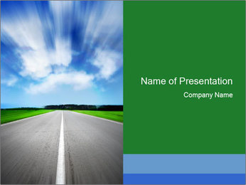 Empty Road PowerPoint Template
