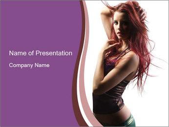 Disco Girl PowerPoint Template