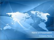 3D World Map Шаблоны презентаций PowerPoint