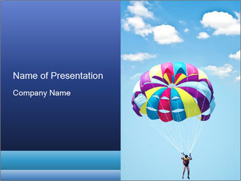 Rainbow Parachute PowerPoint Template