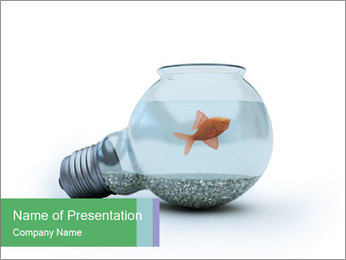 Bulb with Fish Inside PowerPoint Template
