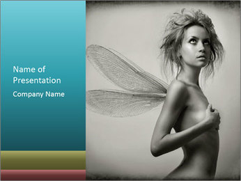Fairy Nude Lady PowerPoint Template