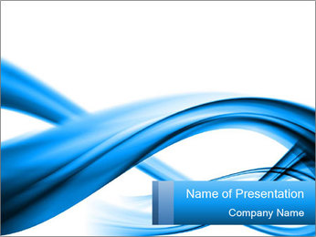 Blue Dynamic Waves PowerPoint Template