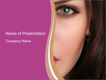 Woman with Smoky Eyes PowerPoint Template