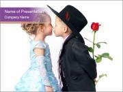 Cute Little Love Couple PowerPoint Templates
