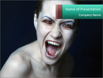 Scary Vampire Woman PowerPoint Template