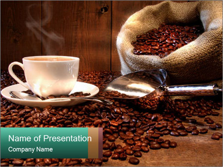coffee shop powerpoint template & backgrounds id 0000015763, Presentation templates