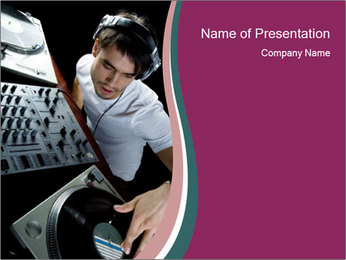 Famous DJ at Night Club PowerPoint Template