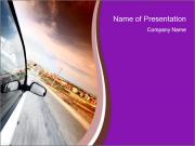 Car on the Road PowerPoint Templates