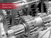 Industrial Steel Mechanism Plantillas de Presentaciones PowerPoint
