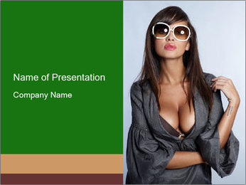 Dress with Decolette PowerPoint Template