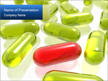 Yellow and Red Capsules PowerPoint Template